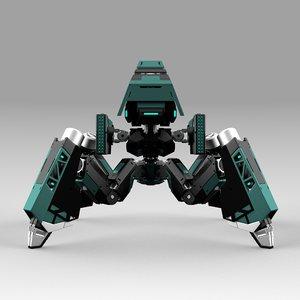 robot quadbot 101f 3D model