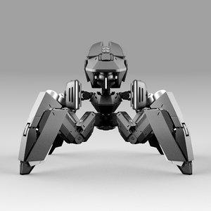 3D robot quadbot 202f