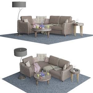3D model sofa thomas