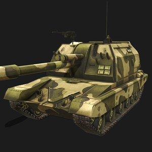 3D model 219 soviet howitzer