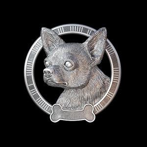 3D chihuahua pendant