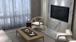 home interior praying room 3D model