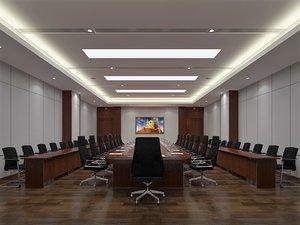 3D boardroom hallway 12000x7500 mm