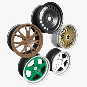3D model wheel rim vehicle