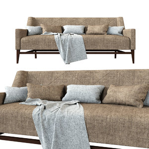 hbf trestle sofa 3D model