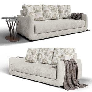 3D camellia sofa