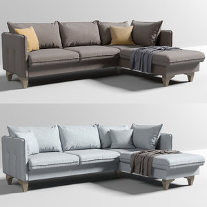 3D morgan sofa ottoman model