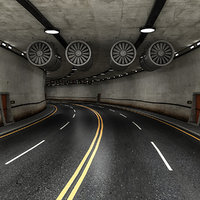 Road Tunnel 3D model