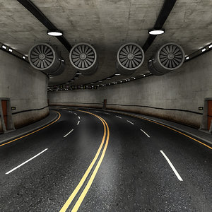 3D road tunnel