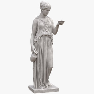 hebe goddess youth statue 3D