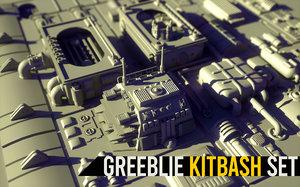 greeblie kitbash set 3D model