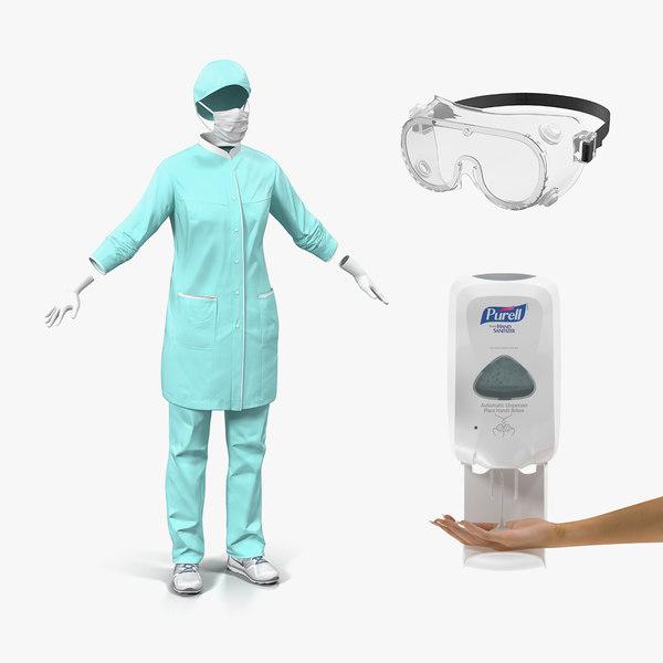 doctors protection 3D model