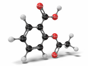 aspirin c9h8o4 3D model