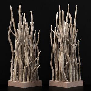 branch wall 3D model