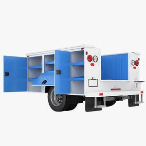 enclosed utility truck 3D model