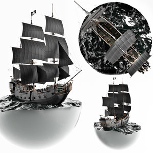 black pearl diorama 3D