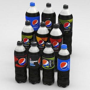 2020 850ml bottles 3D