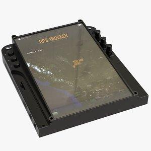 sci fi screen control 3D model