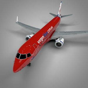 3D virgin blue embraer190 l652