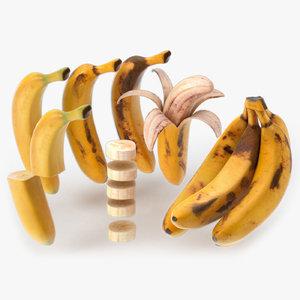banana fruit 3D