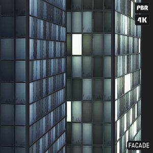 PBR Glass Facade Buildings textures