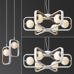 3D maytoni avola celing light set model