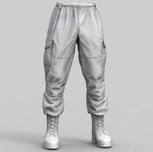 combat pants model