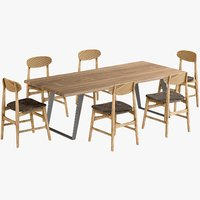Dining Table Yukon with Vernon Chairs