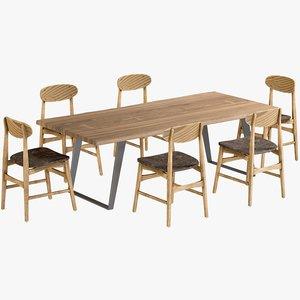 3D realistic dining table yukon