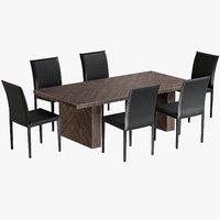 Dinig Table Alexa Rectangular with Chairs Folio