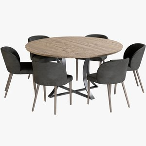 realistic dining table gage 3D model