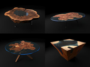 3D model resin table coffee