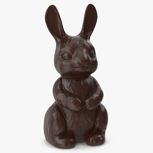 dark chocolate bunny 3D