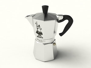 italian coffee maker moka 3D