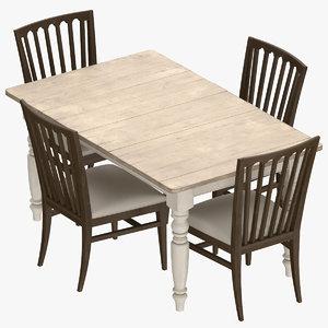 3D classical dining room set model