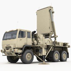 tpq-53 radar lockheed martin 3D model