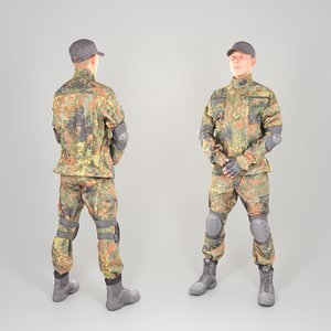 equipped soldier uniform 3D