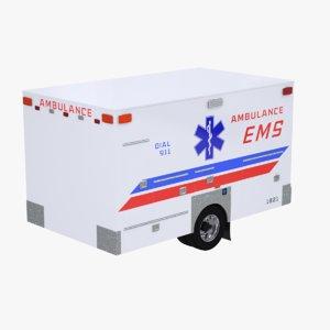 3D ems ambulance box model