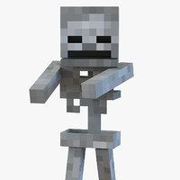 Minecraft Skeleton Rigged for Cinema 4D