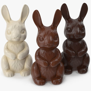 3D model chocolate bunnies
