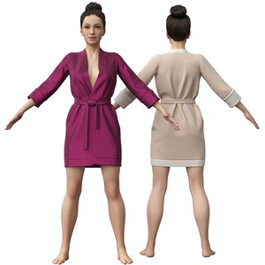 rig bathrobe 3D model