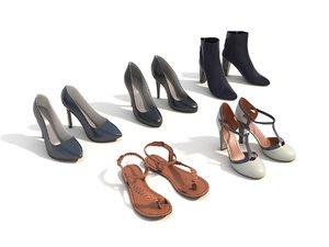 3D women shoe model