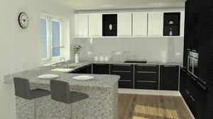 kitchen set accuracy 3D model