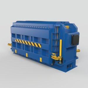 3D press machine car model