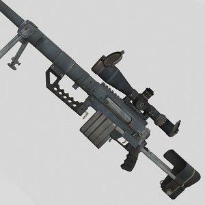 3D model gun weapon