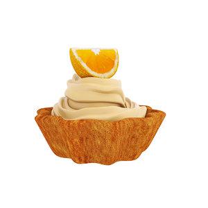 tart orange 3D model