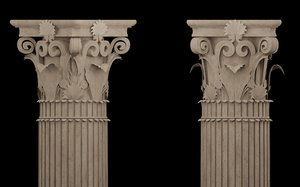 corinthian column classical architecture 3D model