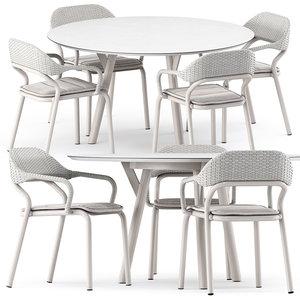 noss armchair table link 3D model