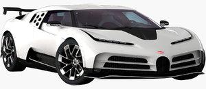 realistic bugatti centodieci 2020 3D model