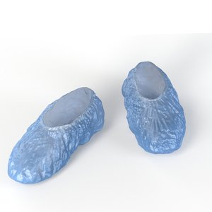 shoe covers 3D model